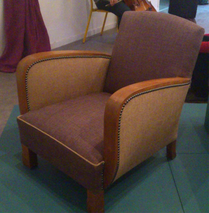 Restauration de fauteuil le fauteuil oreilles - Cours de restauration de fauteuil ...